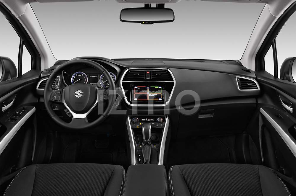 Stock photo of straight dashboard view of 2017 Suzuki SX4-S-Cross GL+ 5 Door SUV Dashboard