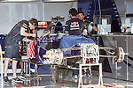 Race teams practice their skills and get their cars ready for the Formula 1 United States Grand Prix race at the Circuit of the Americas race track in Austin,Texas.