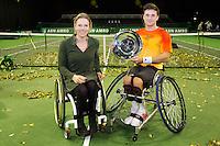 Rotterdam, The Netherlands, February 13, 2016,  ABNAMROWTT, Gordon Reid (GBR), Esther Vergeer (NED)<br /> Photo: Tennisimages/Henk Koster