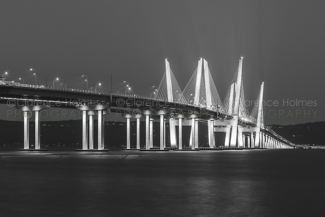 The Governor Mario M. Cuomo Bridge lit in blue in observation of the 20th anniversary of the 9/11 terrorist attacks.