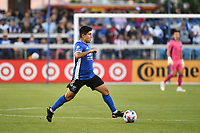 SAN JOSE, CA - JUNE 26: Javier Lopez #9 of the San Jose Earthquakes during a game between Los Angeles Galaxy and San Jose Earthquakes at PayPal Park on June 26, 2021 in San Jose, California.