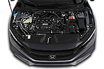 Car Stock 2021, 2020, 2019 Honda Civic-Sedan Touring 4 Door Sedan Engine  high angle detail view