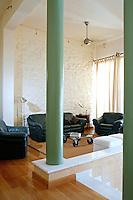 neoclassical living room