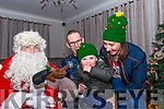 Visiting Santa at Purcell's Annual Christmas lights at Sunhill in Killorglin on Sunday evening raising funds for Killorglin Recovery Haven & Killorglin Hospice was Tiernan Sweeney with Mum & Dad, Karen & John Sweeney from Caragh Lake (& Santa of course)