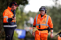 11th September 2021; Cookstown, County Tyrone, Northern Ireland, Cookstown 100 Road Races: Road racing  volunteers in the Orange Army
