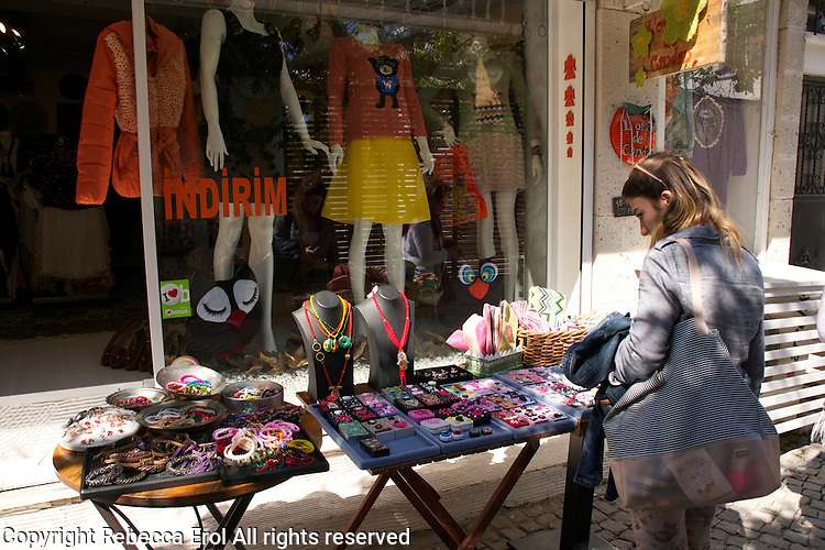 Shopping in Alacati, Turkey