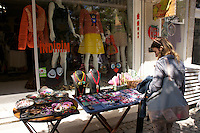 Shopping in Alacati, Turkey