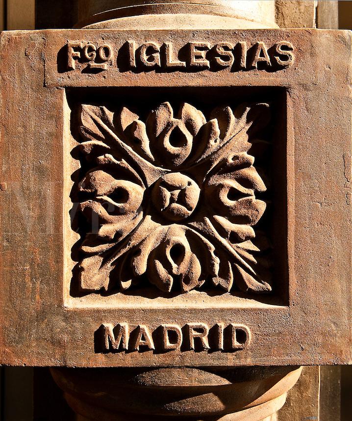 Water pipe tile detail, Madrid, Spain