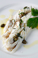 fresh fish with capers