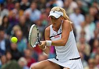 02-07-13, England, London,  AELTC, Wimbledon, Tennis, Wimbledon 2013, Day eight, Agnieszka Radwanska (POL)<br /> <br /> <br /> <br /> Photo: Henk Koster