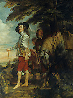 Van Dyck 1599-1641:  Charles I, King of England, a la chasse.    Louvre. Reference only.