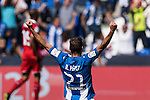 Ruben Perez of Deportivo Leganes celebrates during their La Liga match between Deportivo Leganes and Sevilla FC at the Butarque Municipal Stadium on 15 October 2016 in Madrid, Spain. Photo by Diego Gonzalez Souto / Power Sport Images