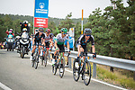 Romain Bardet (FRA) and Martijn Tusveld (NED) Team DSM, Julen Amezqueta (ESP) Caja Rural-Seguros RGA and Rafal Majka (POL) UAE Team Emirates in the breakaway during Stage 9 of La Vuelta d'Espana 2021, running 188km from Puerto Lumbreras to Alto de Velefique, Spain. 22nd August 2021.    <br /> Picture: Cxcling   Cyclefile<br /> <br /> All photos usage must carry mandatory copyright credit (© Cyclefile   Cxcling)