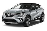 2021 Renault Captur Intense 5 Door SUV Angular Front automotive stock photos of front three quarter view