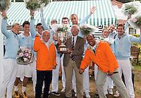 05-06-11, Tennis, Den Haag, Playoffs Eredevisie05-06-11, Tennis, Den Haag, Play-offs  Eredivisie, Het team van Leimomias viert feest na het behalen van de landstitel