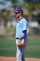 Tampa Bay Rays Carlos Vargas (95) during a Minor League Spring Training game against the Minnesota Twins on March 15, 2018 at CenturyLink Sports Complex in Fort Myers, Florida.  (Mike Janes/Four Seam Images)