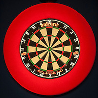 04.01.2015.  London, England.  William Hill PDC World Darts Championship.  Finals Night.  General view of the dartboard before the final of The 2015 William Hill World Darts Championship.