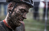Jens Adams (BEL/Pauwels Sauzen-Vastgoedservice) post race. Mudface.<br /> <br /> elite men's race<br /> GP Sven Nys 2018