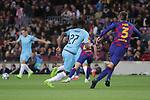 UEFA Champions League 2019/2020.<br /> Matchday 4.<br /> FC Barcelona vs SK Slavia Praha: 0-0.<br /> Ibraim Traore vs Gerard Pique.