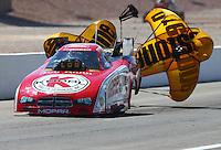 Mar 30, 2014; Las Vegas, NV, USA; NHRA funny car driver Jeff Arend during the Summitracing.com Nationals at The Strip at Las Vegas Motor Speedway. Mandatory Credit: Mark J. Rebilas-