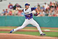 Tennessee Smokies starting pitcher Brad Markey (13) delivers a pitch during a game against the Mississippi Braves at Smokies Stadium on July 23, 2016 in Kodak, Tennessee. The Braves defeated the Smokies 3-0. (Tony Farlow/Four Seam Images)