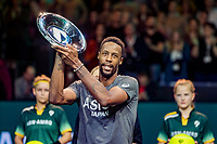 Rotterdam, The Netherlands, 16 Februari 2020, ABNAMRO World Tennis Tournament, Ahoy,<br /> Mens Single Final: Gaël Monfils (FRA)  gets the trophy <br /> Photo: www.tennisimages.com