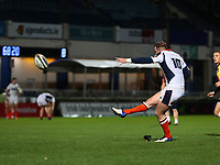 16th November 2020; RDS Arena, Dublin, Leinster, Ireland; Guinness Pro 14 Rugby, Leinster versus Edinburgh; Nathan Chamberlain (Edinburgh) converts a try