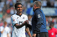 Kyle Naughton of Swansea City at full time during the Sky Bet Championship match between Swansea City and Birmingham City at the Liberty Stadium in Swansea, Wales, UK. Sunday 25, August 2019