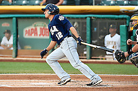 Josh Rodriguez (12) of the New Orleans Zephyrs at bat against the Salt Lake Bees in Pacific Coast League action at Smith's Ballpark on August 27, 2014 in Salt Lake City, Utah.  (Stephen Smith/Four Seam Images)