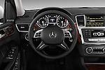 2013 Mercedes GL-Class GL450 Luxury SUV Steering wheel view Stock Photo