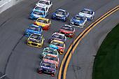 2017 NASCAR Cup - Clash at Daytona<br /> Daytona International Speedway, Daytona, FL USA<br /> Sunday 19 February 2017<br /> Denny Hamlin, FedEx Express Toyota Camry, Daniel Suarez, ARRIS Toyota Camry, Matt Kenseth, DeWalt Toyota Camry, Jamie McMurray, Kyle Busch, M&M's Toyota Camry<br /> World Copyright: Michael L. Levitt/LAT Images<br /> ref: Digital Image levitt-0217-D500_08230