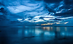 Blue hour over the lagoon in Tuvalu