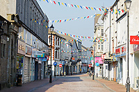 Pictured: The deserted Green Street in Neath city centre, Wales, UK. Friday 27 March 2020<br /> Re: Covid-19 Coronavirus pandemic, UK.