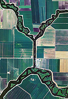 aerial photo map of agriculture levees and channels, King Island, San Joaquin County, California