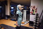 Nov 2012, Ramallah. Nihal is a weekly practitioner of the solo gym. Solo gym is in the center of Ramallah, it is one of the very rare gyms where males and females are mixed.