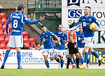 St Johnstone v Livingston….10.08.19      McDiarmid Park     SPFL <br />Matty Kennedy celebrates his goal<br />Picture by Graeme Hart. <br />Copyright Perthshire Picture Agency<br />Tel: 01738 623350  Mobile: 07990 594431