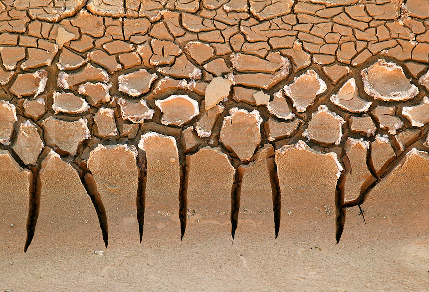 Dried mud in the Amargosa River bed, Death Valley National Park, California