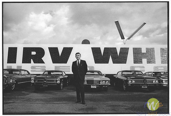 Irv White used cars, Los Angeles, CA. 1969
