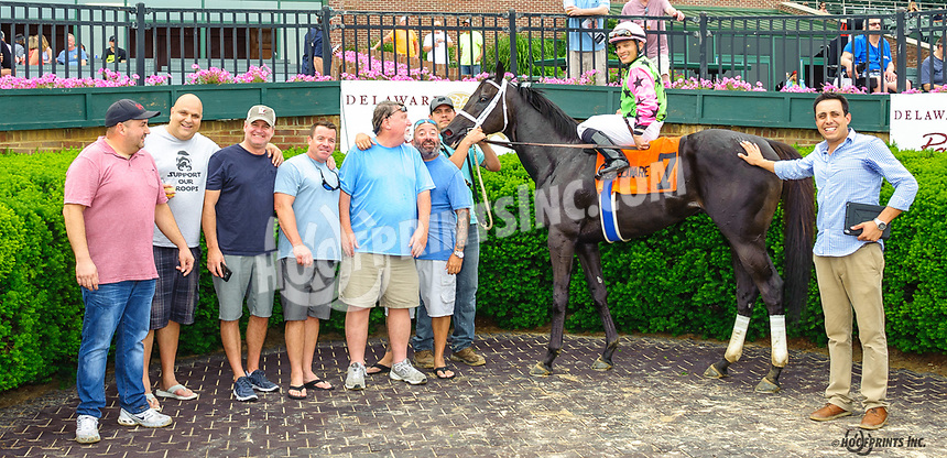 Silent Citizen winning The Stanton Stakes at Delaware Park on 6/11/18