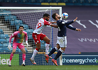 Mason Bennett of Millwall controls the ball whilst under pressure from Adrian Mariappa of Bristol City during Millwall vs Bristol City, Sky Bet EFL Championship Football at The Den on 1st May 2021