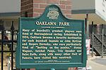 Oaklawn landmark sign in front of Oaklawn Park in Hot Springs, Arkansas on February 17, 2014. (Credit Image: © Justin Manning/Eclipse/ZUMAPRESS.com)