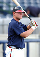 20 April 2005: Catcher Brian McCann of the Mississippi Braves, Class AA affiliate of the Atlanta Braves, taken at Trustmark Park in Pearl, Mississippi. Photo by Tom Priddy (Tom Priddy/Four Seam Images)