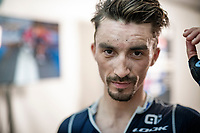 Julian Alaphilippe (FRA/Deceuninck - Quick Step) was able to solo his way to a 2nd consecutive World Champion Title<br /> <br /> Elite Men World Championships - Road Race<br /> from Antwerp to Leuven (268.3km)<br /> <br /> UCI Road World Championships - Flanders Belgium 2021<br /> <br /> ©kramon
