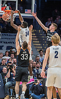 WASHINGTON, DC - JANUARY 28: Qudus Wahab #34 of Georgetown dunks during a game between Butler and Georgetown at Capital One Arena on January 28, 2020 in Washington, DC.