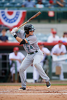 Daytona Tortugas third baseman Brantley Bell (24) at bat during a game against the Florida Fire Frogs on April 8, 2018 at Osceola County Stadium in Kissimmee, Florida.  Daytona defeated Florida 2-1.  (Mike Janes/Four Seam Images)