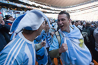 Argentina fans celebrate at Soccer City in Johannesburg, South Africa on Thursday, June 17, 2010 after scoring their second goal during Argentina's and South Korea FIFA World Cup first round match.