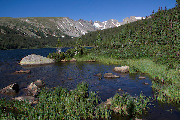 Long Lake in Indian Peaks Wilderness, west of Boulder.<br /> Outside Imagery offers photo tours and hikes, all-year.