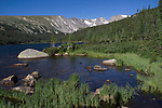 Long Lake in Indian Peaks Wilderness, west of Boulder.<br />