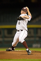 Starting pitcher Alex Wilson #18 of the Texas A&M Aggies in action versus the Rice Owls  in the 2009 Houston College Classic at Minute Maid Park February 28, 2009 in Houston, TX.  The Owls defeated the Aggies 2-0. (Photo by Brian Westerholt / Four Seam Images)