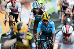 Nairo Quintana (COL) Movistar Team crosses the finish line of Stage 11 of the 2019 Tour de France running 167km from Albi to Toulouse, France. 17th July 2019.<br /> Picture: Colin Flockton   Cyclefile<br /> All photos usage must carry mandatory copyright credit (© Cyclefile   Colin Flockton)